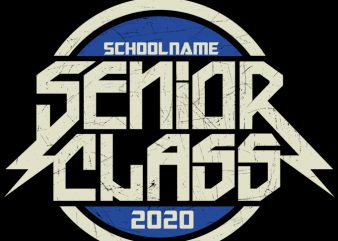 Senior Class 2020 (E) ready made tshirt design