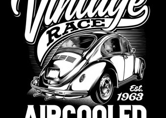 VINTAGE RACE t shirt design for purchase
