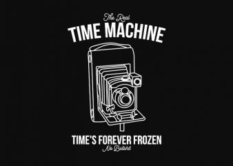 Time Machine Photography, Photographer graphic t-shirt design