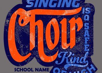 Singing Choir shirt design png