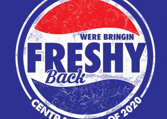 We bringin freshy back print ready t shirt design