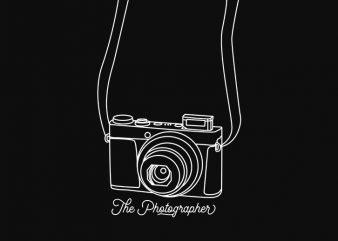 The Photographer t-shirt design