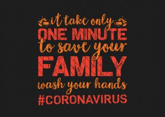 corona virus awareness tshirt design