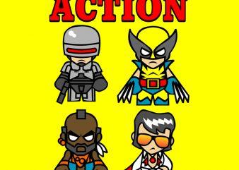 ACTION t-shirt design png