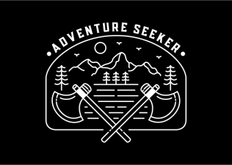 Adventure Seeker commercial use t-shirt design