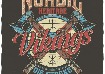 Nordic heritage t-shirt design for commercial use