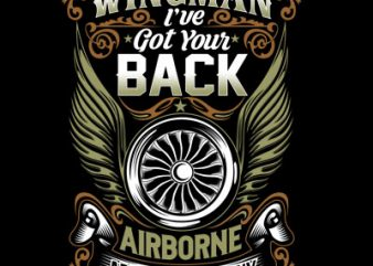 Wingman I've go back buy t shirt design artwork
