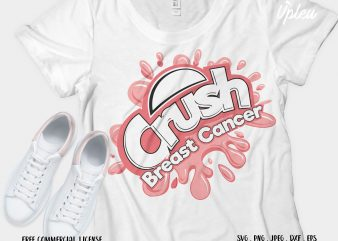 Crush Breast Cancer t shirt design for purchase