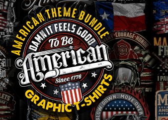 American Theme graphic T-shirts Bundle