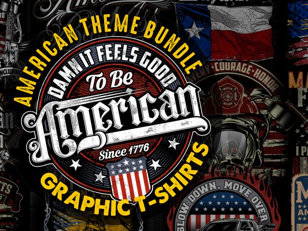 American Theme graphic T-shirts Bundle