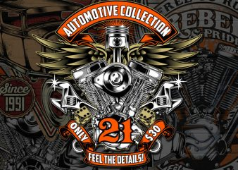 Automotive collection Graphic T-shirt