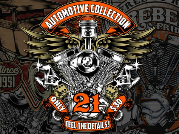 Automotive collection Graphic T-shirt