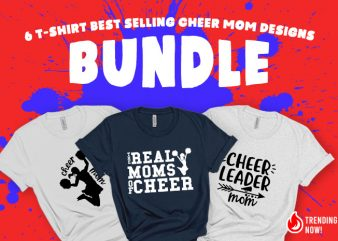 Cheer Mom SVG Bundle – Cheers – Funny Tshirt Design