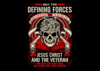 Defining Forces graphic t-shirt design