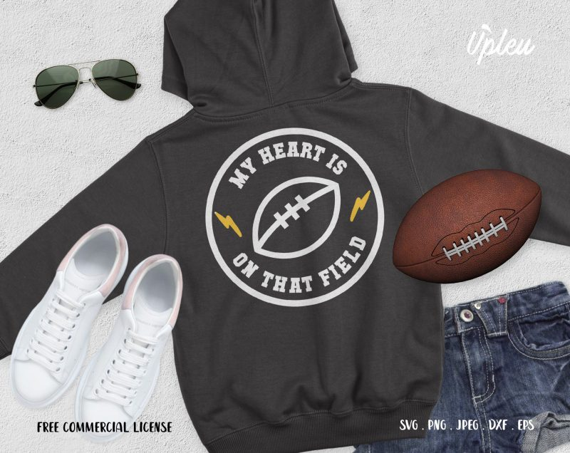 My Heart Is On That Field Football Shirt Design Png Buy T Shirt Designs