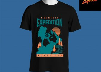Mountain Expedition Adventure camping tshirt design for sale