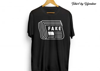Fake Newspaper graphic t shirt design for download