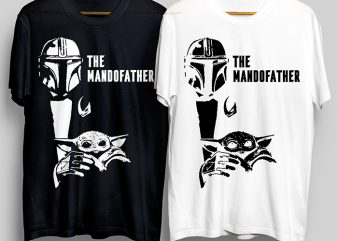 The Mando Father T-Shirt Design for Commercial Use