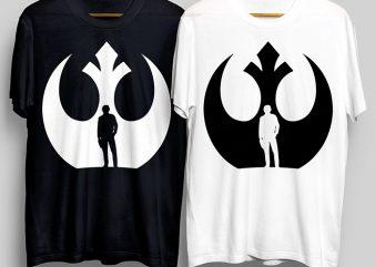 Rebel Smuggler T-Shirt Design for Commercial Use