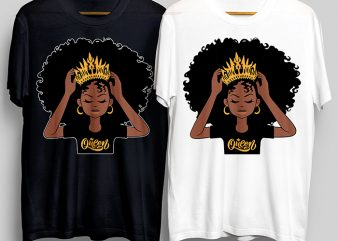 Queen Girl T-Shirt Design for Commercial Use