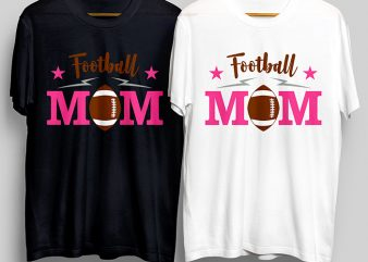 Football Mom T-Shirt Design for Commercial Use