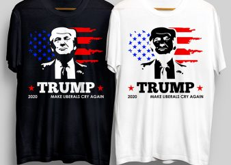 Trump 2020 T-Shirt Design for Commercial Use