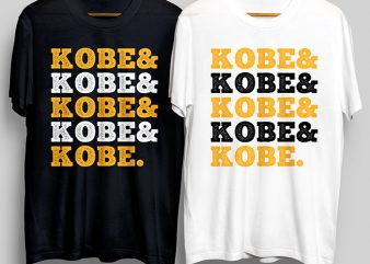 Kobe And Kobe And Kobe Bryant T-Shirt Design for Commercial Use
