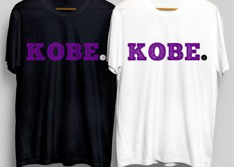 Kobe Bryant T-Shirt Design for Commercial Use