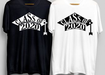 Class Of 2020 T-Shirt Design for Commercial Use