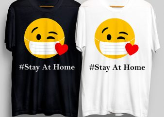 #Stay At Home T-Shirt Design for Commercial Use