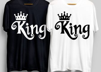 King T-Shirt Design for Commercial Use