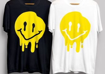 Smiley Paint T-Shirt Design for Commercial Use