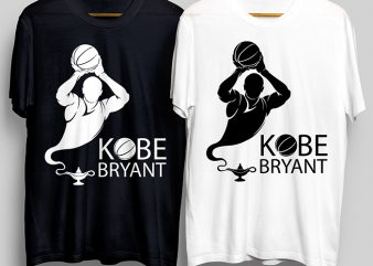 Kobe Bryant The Legend Forever RIP, Bryant RIP Legend T-Shirt Design for Commercial Use
