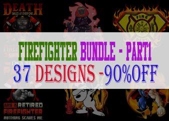 Firefighter Bundle Part 1 – 37 Designs – 90%OFF