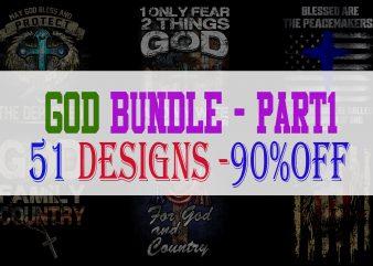 God Bundle Part 1 t shirt design template