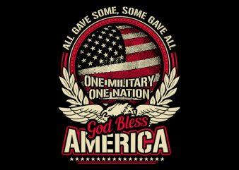 God Bless America t shirt design for purchase