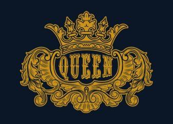 I am Queen t shirt design template