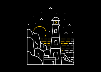 Lighthouse design for t shirt