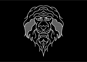 Lion Lines t-shirt design for sale