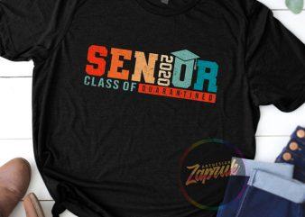 #5 SENIOR CLASS OF 2020 QUARANTINED digital download ready made tshirt design to buy