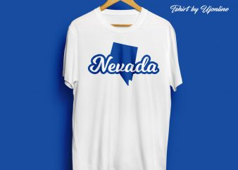NEVADA Map Typography t-shirt design for commercial use