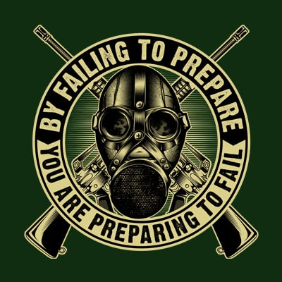 By Failing to prepare graphic t-shirt design