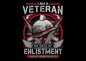 Oath Of Enlistment t shirt design for download