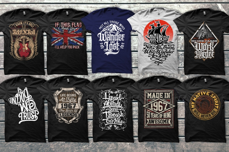 40 MIX READY DESIGNS T-SHIRT COLLECTIONS t shirt design graphic