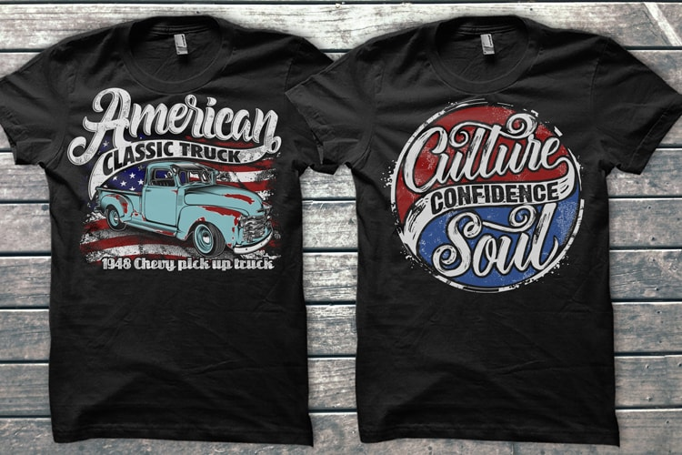 American Theme graphic T-shirts Bundle tshirt design for merch by amazon