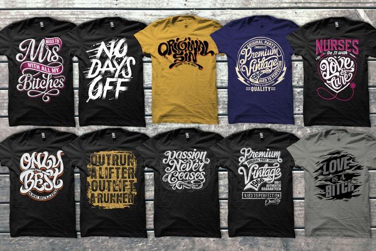 Mix 60 Designs Bundle collections commercial use t shirt designs