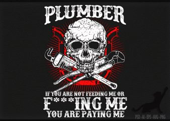 Plumber print ready t shirt design