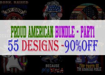 Proud American Bundle Part 1 – 55 Designs – 90% OFF