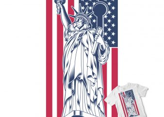 STATUE OF LIBERTY FIGHT CORONAVIRUS buy t shirt design for commercial use