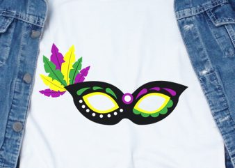 Mardi Gras Mask SVG – Festival – Funny Tshirt Design
